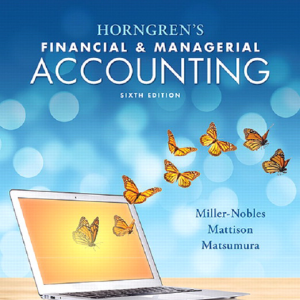 Test Bank for Horngren's Financial and Managerial Accounting 6th Edition