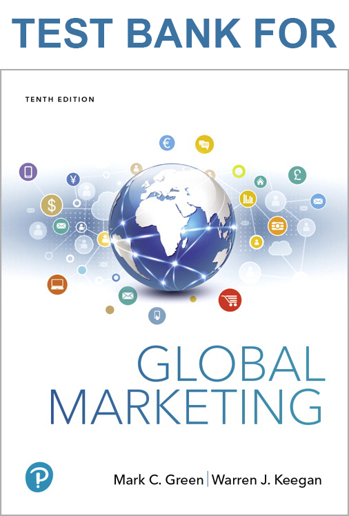 Buy Test Bank for Global Marketing, 10th Edition